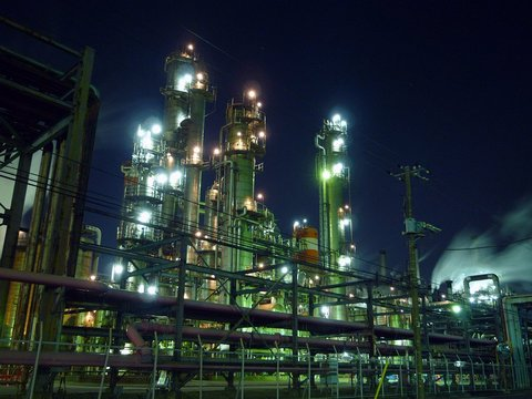 工場萌えな夜景